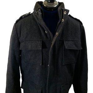 Calvin Klein Wool Blend 4-Pocket Pea Coat Size S